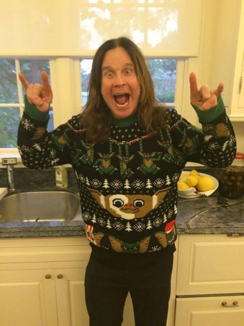 PMRC Punk Metal Rap Coalition: Ozzy ugly Christmas sweater
