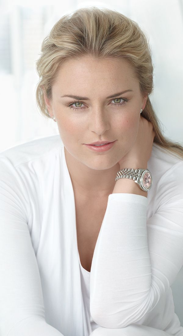 Olympic gold medalist, World Champion, and record-breaking World Cup Alpine skier Lindsey Vonn chooses the Rolex Datejust 36 to demonstrate both elegance and strength.