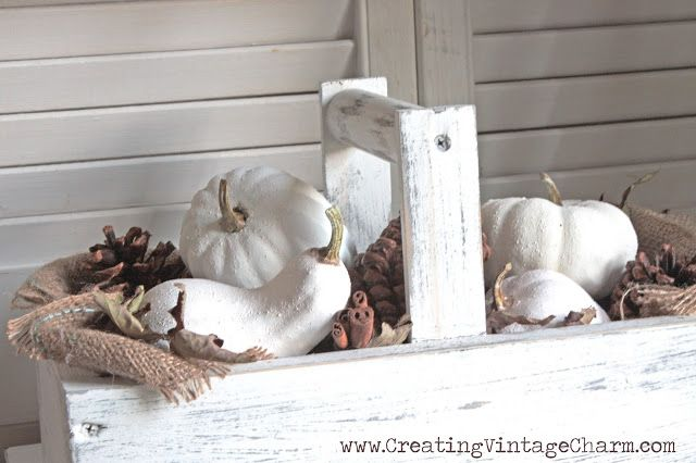 Creating Vintage Charm: Fall with White! I like this look