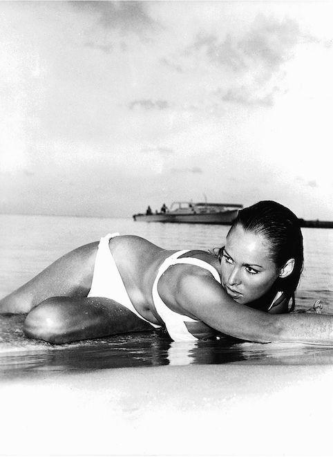 Ursula Andress on the set 'James Bond Dr. No,' 1962