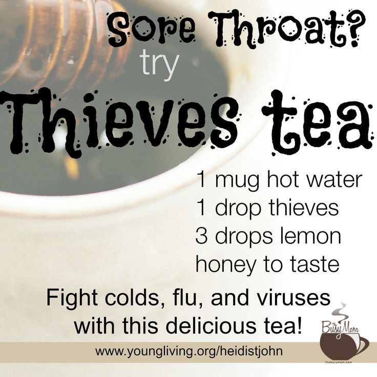 A recipe for sore throat that works! Give it a try. Keep it simple and feel better ...  https://www.youngliving.org/heidistjohn