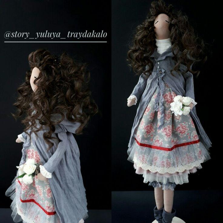 Текстильная кукла. Тильда. Ручная работа. Выполнена на заказ. 63 см. Handmade. Tilda. Doll.