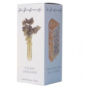 Perfect partner for Rich Blue Cheeses: Celery Crackers. www.finecheese.co.uk