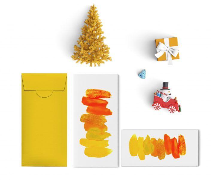 Buste e biglietti decorati per il Natale dei bambini