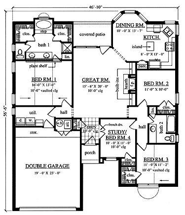 25 best House Plans images on Pinterest Home plans Architecture
