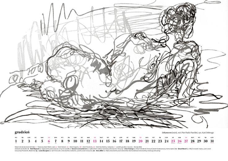 December 2015, erotic art by Kati Dobrogo, inspiration: Decameron (1971) by Pier Paolo Pasolini. Order Museum of Eroticism Erotic Scenes Calendar only till January 16 (price: $20 + shipping from Poland) muzeumerotyzmu@gmail.com http://ero2015.tumblr.com/ Inside: erotic art, erotic feasts, anniversaries, eroticism personalities #ero2015 #eroticart #eroticism #erotic #calendar #erotyzm #erotyka #decameron #boccacio #nude #art #bw #drawing #kalendarz #calendar #calendario #film #movie