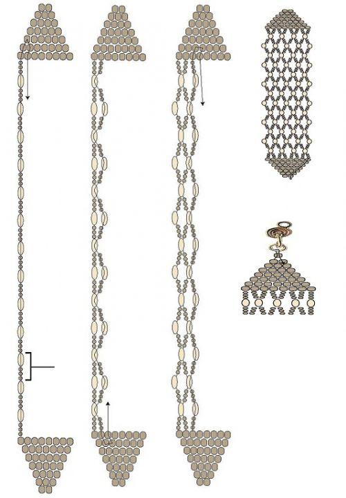 brick stitch and netting bracelet tute.  #Seed #Bead #Tutorials
