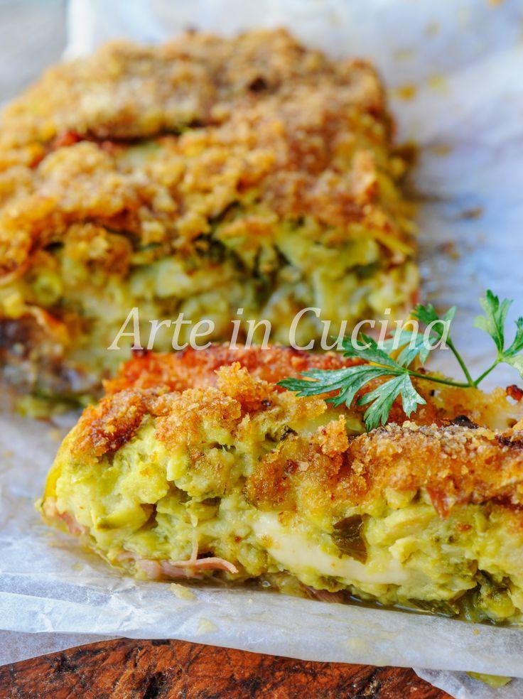 Rotolo di zucchine gratinato con formaggio vickyart arte in cucina