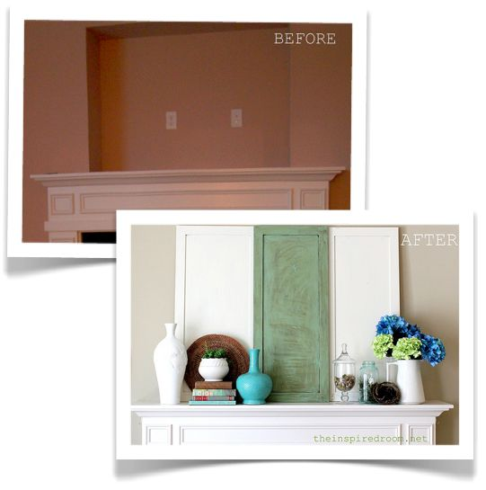mantel before and after