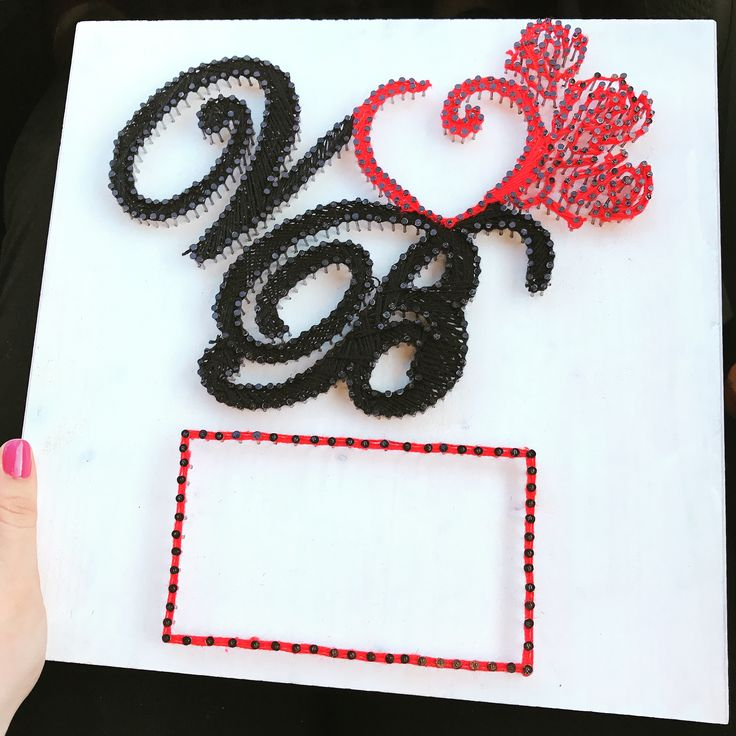 V&B string art photo frame (fb: www.facebook.com/atelierulluighidus)
