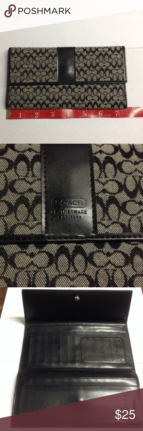 Authentic Coach wallet Used lightly,  no stains, rips or holes.                   d Coach Bags Wallets