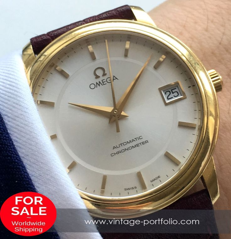 Perfekt Omega Automatic Chronometer with Saphire Glas, solid Gold 18 ct #omegawatches #omegavintage #vintageos