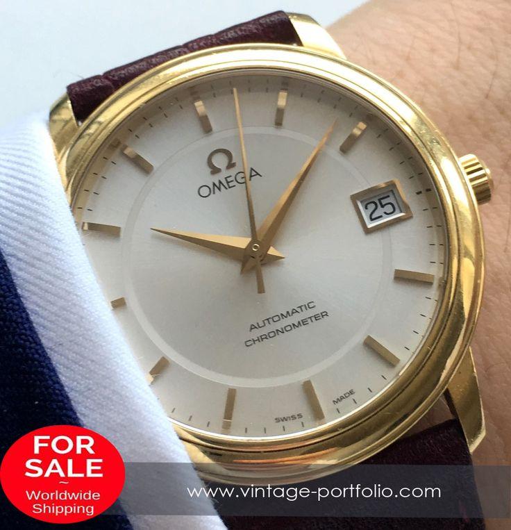 Superschöner Omega Automatik Chronometer mit Saphirglas aus Vollgold