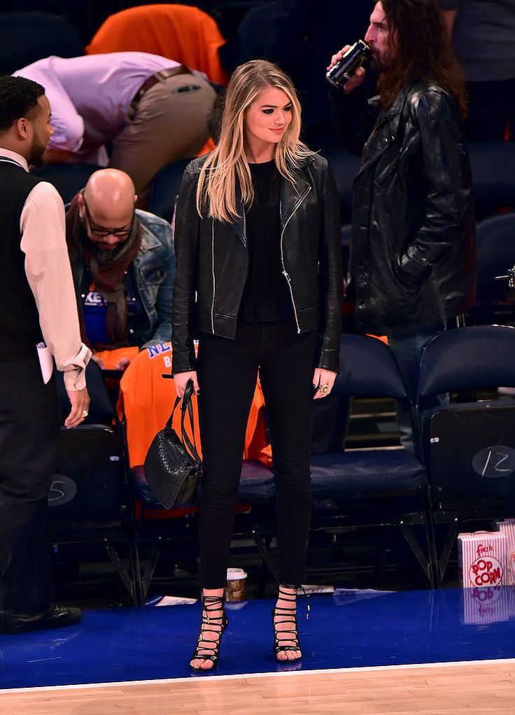 If There Was the Perfect Courtside-Chic Outfit, Kate Upton Just Wore It: It's no wonder Kate Upton made it onto the Jumbotron when she sat courtside at the New York Knicks game — she was dressed in a seriously stylish outfit.
