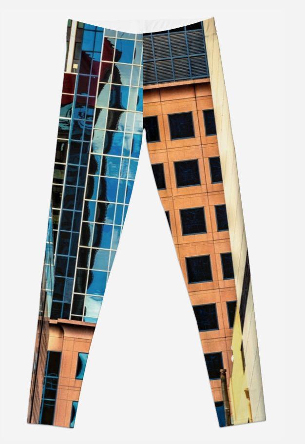 Melbourne Cityscape leggings by Gaye G Australia+Victoria+Melbourne+cityscape+urban+landscape+leggings+clothing+female+women+woman+girls+green+blue+pattern+yellow+white+winter+summer+fall+autumn+spring+redbubble+Gaye G Size XXS to XL