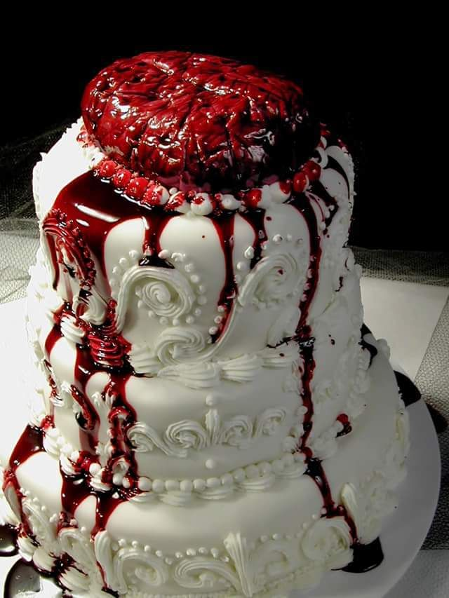 Charming Gothic Horror Wedding Cake Check Us Out On Fb  Unique Intuitions  #uniqueintuitions #halloween