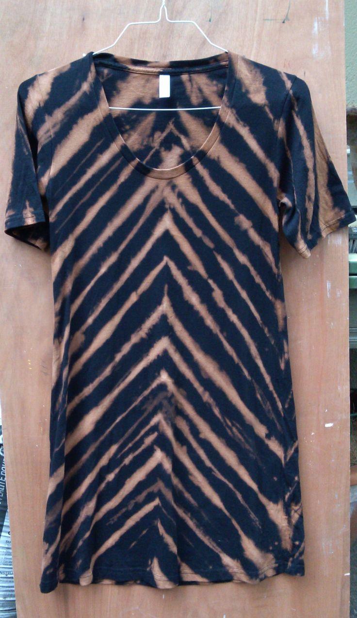 Black t shirt dye - Chevron T Shirt Dress 100 Cotton Tie Dye Dress Casual Wear American Apparel Short Sleeve