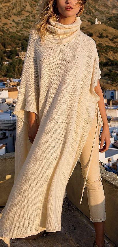 Cozy knit kaftan