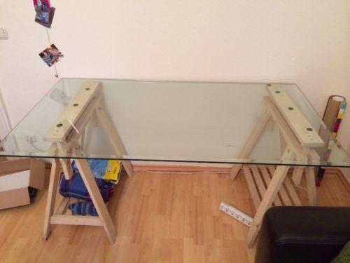 Schreibtisch Ikea Malm Gebraucht ~ Glasplatte Ikea