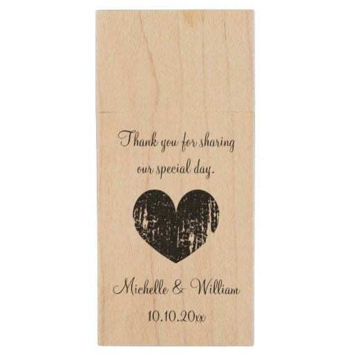 Custom wedding thank you favour USB flash drive Wood USB 2.0 Flash Drive. You can customise this great USB with your choice of text etc.