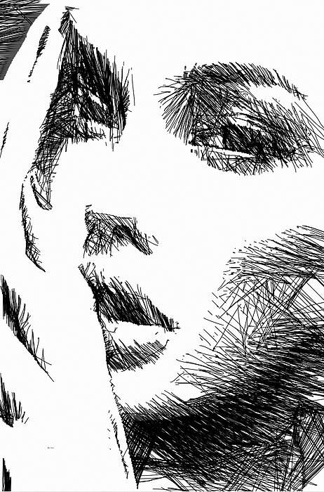 Woman Sketch in Black and White by Rafael Salazar Artist from #Colombia Digital Art Copyright 2013