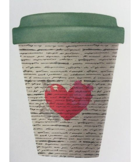 chic mic bamboocup coffee to go becher love letter bcp220. Black Bedroom Furniture Sets. Home Design Ideas