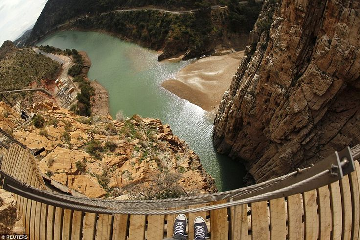 El Caminito del Rey, a notorious walkway in Malaga, southern Spain - book free tickets
