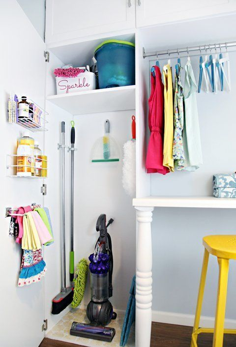 Organization Inspiration: Corralling Cleaning Supplies in Style