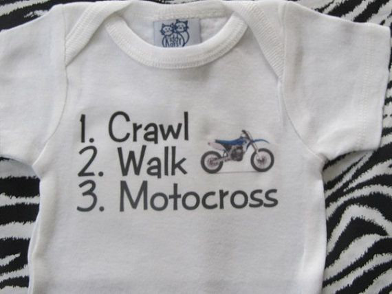 Motocross baby shirt one piece infant tshirt outfit bodysuit for boy or girl