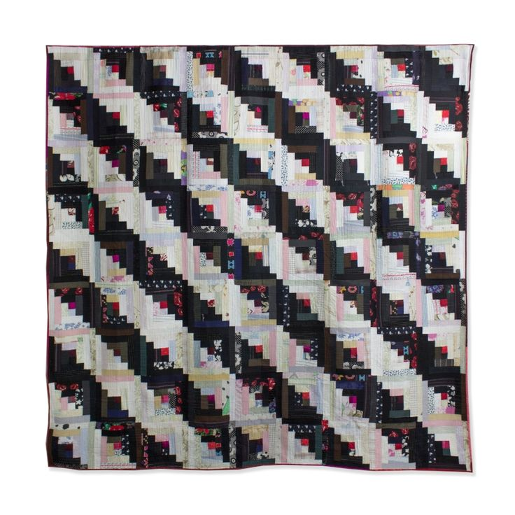 """Log Cabin"" modern quilt by Luke Haynes available through Seattle Art Source. Contact sarah@seattleartsource.com"