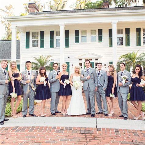 33 best Navy & Grey Wedding images on Pinterest | Navy gray wedding ...