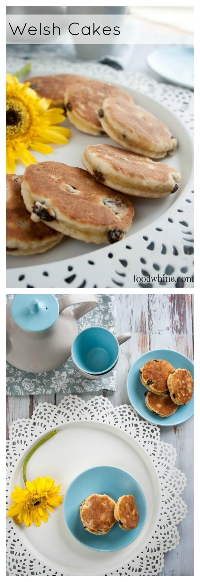 Welsh Cakes - like a cross between a pancake and a tea biscuit. My kids call them pancake cookies! Perfect for packing in lunches or as a snack on-the-go.