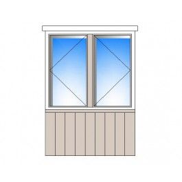 Two Bay Window with timber cladding