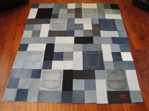 denim quilt top-layout idea