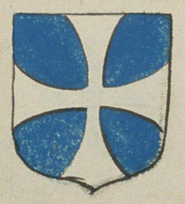 Perine BRIDIER, veuve de René LE DOUANNE, marchand à Angers. Porte : d'azur, à une croix pattée d'argent | N° 242