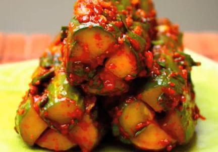 Korean Cucumber Kimchi Recipe Video by aeriskitchen   ifood.tv