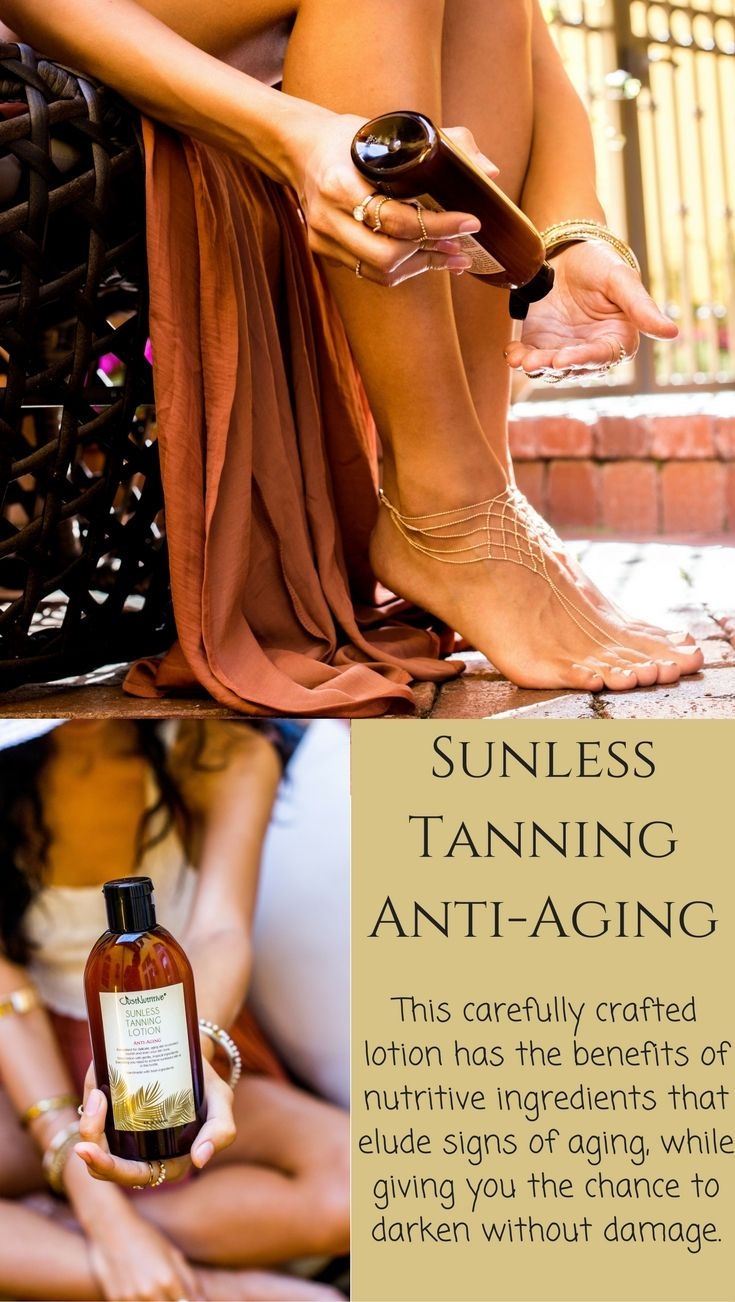 Our carefully crafted Sunless Tanning - Anti-Aging lotion will give you the bronze tan you desire with all of the benefits of our Anti-Aging products. We've handpicked the perfect ingredients nature has to offer to formulate this powerful lotion your body will love!