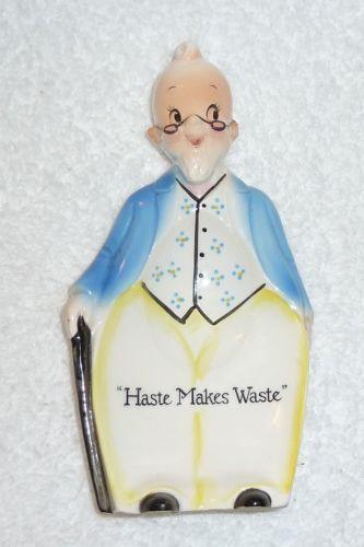 VINTAGE HOLT HOWARD GRANDPA OLD MAN SPOON REST WALL PLAQUE MIDCENTURY KITCHEN