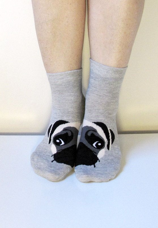 Boot Socks Women Men Socks Leg Warmer Pug Socks by ScarfLovers