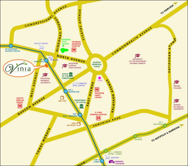 vinia residences and versaflats by filinvest location map http://globalfilinvestor.com/vinia-residencesfilinvest/