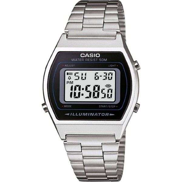 CASIO LA670WEA7EF stainless steel digital watch (50 NZD) ❤ liked on Polyvore featuring men's fashion, men's jewelry, men's watches, watches, silver, mens stainless steel watches, casio mens watches and mens chronograph watches