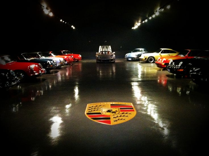 Porsche Floor Graphic Installed In Private Porsche Garage