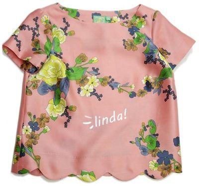 blusa vintage floral