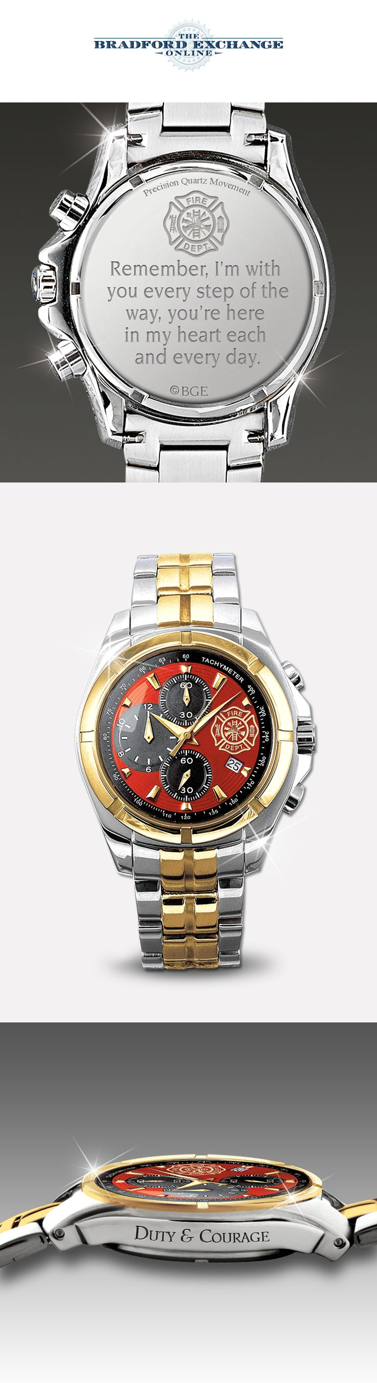 Honor the special hero in your life with this firefighter watch for men.
