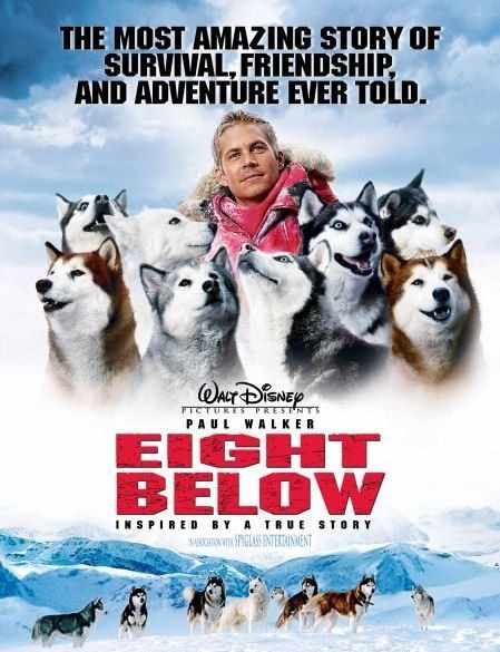 Eight Below. I love this film and re-watch the DVD frequently.