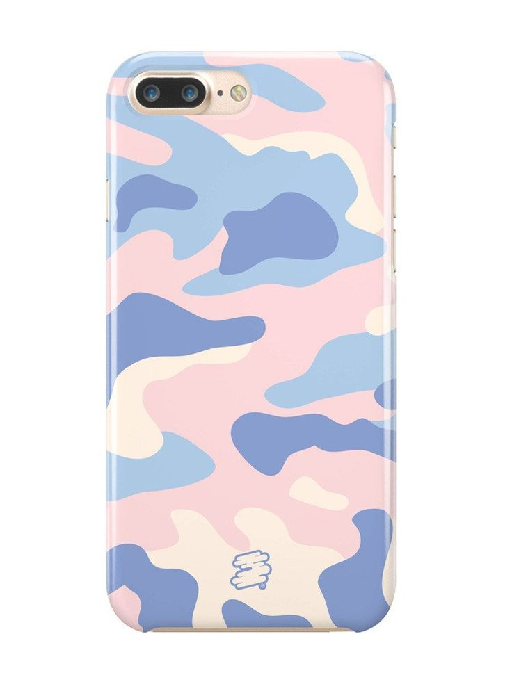 BLUE CAMO | Phone Case for iPhone7/7plus   #pale #grunge #softgrunge #girl #pale girl #alternative #aesthetic #kawaii #pastel #indie #goth #pastelgoth