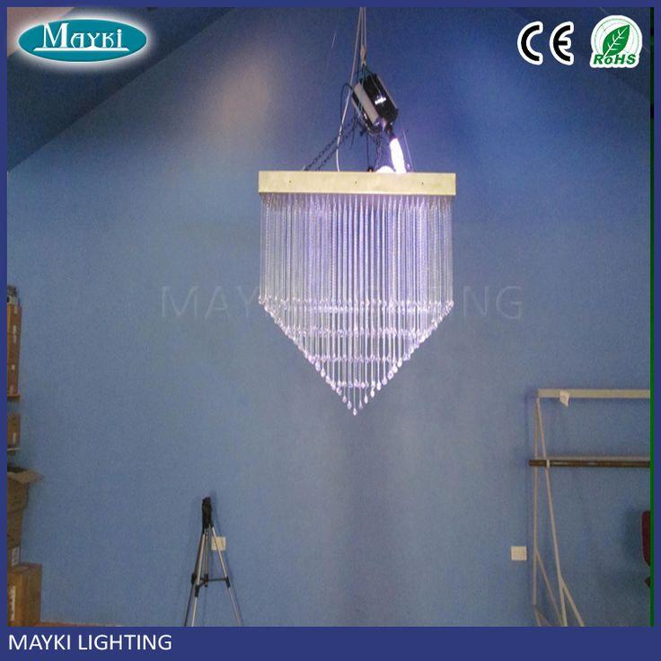 Guangzhou Modern led fiber optic chandelier for high ceiling decoration