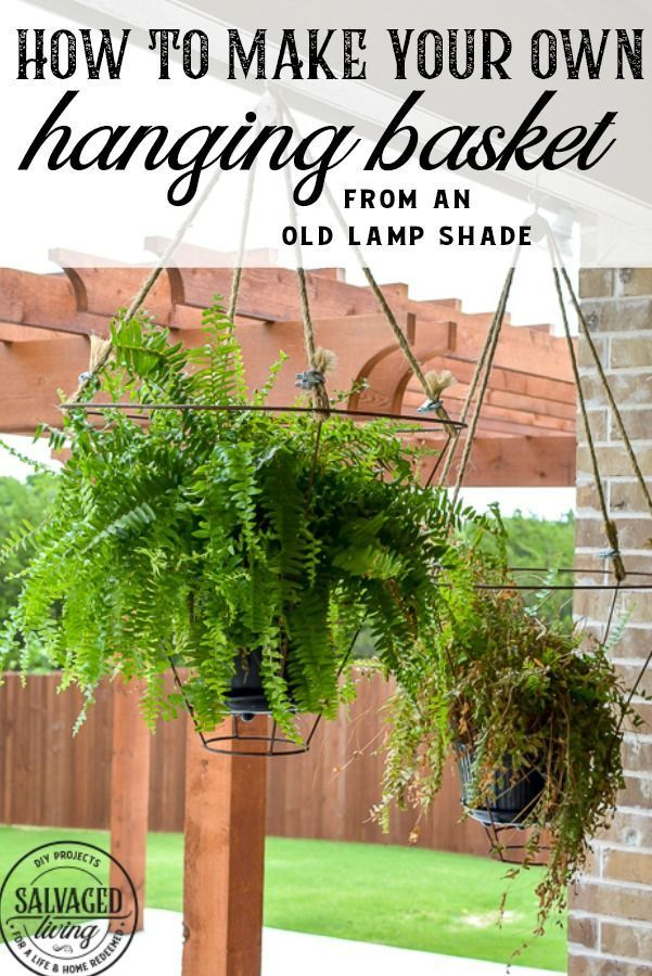 Unusual Outdoor Hanging Basket Idea Salvaged Living In 2020