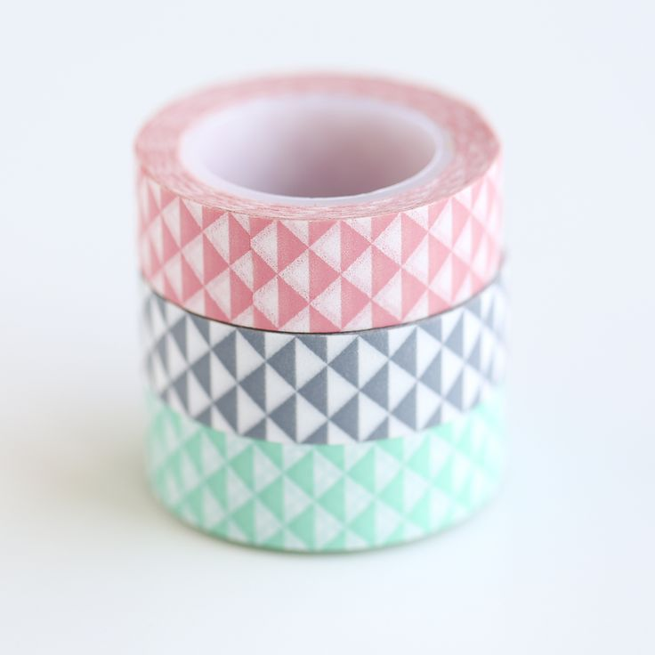 Geo Pastel Washi Tape Set - Whimseybox Shop #podpastels