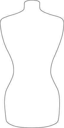 MINIATURE DRESS FORMS - torso dress form template